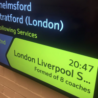 Digital CIS Screens - Next Train Information